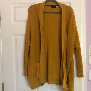 BDG Mustard Yellow Knit Cardigan (Size XS)